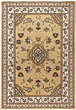 Quality Traditional Classic Beige Small Rug,