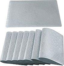 Qualsen Placemats Set of 8 Wipe Clean PVC Kitchen