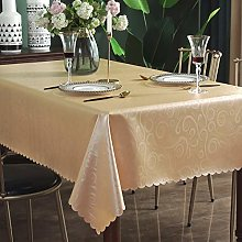 Qualsen Table Cloth Wipeable Square Tablecloth PU
