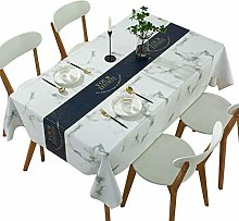 Qualsen Wipeable Table Cloth White background