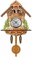 Quartz Cuckoo Clock Black Forest House Antique