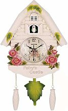Quartz Cuckoo Clock Black Forest House with Moving