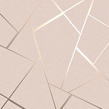 Quartz Fractal Wallpaper Textured Metallic Blush