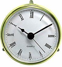 Quartz Gold Bezel Clock Inserts Roman Numbers