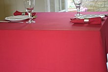 Quayside Home Christmas Red Tablecloth 100% Cotton