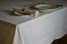 Quayside Home Tablecloth Linen Cotton Soft White