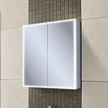 Qubic 60 Aluminium LED Double Door Bathroom