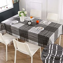 Qucover Rectangular Tablecloth Wipe Clean
