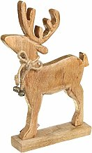Queen Isabell Reindeer Decoration Wood Xmass