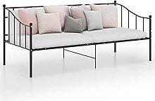 Queen.Y Victorian Metal Daybed, 3FT Metal Sofa Bed