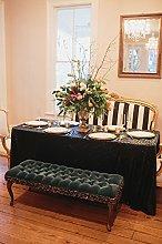 QueenDream Sequin Tablecloth Black Sparkly Glitter