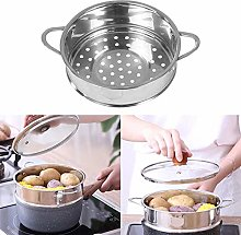 QueenHome Cooking Steamer Basket, Stainless Steel