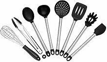 Queiting Silicone Kitchen Cooking Utensil Set of 8