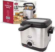 Quest 34250 Brushed Square Deep Fat Fryer Compact,