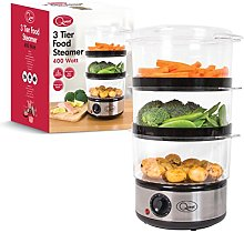 Quest 35220 3 Tier Compact Food Steamer with Rice