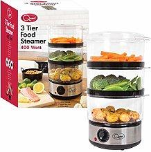 Quest 35220 3 Tier Food Steamer / 7.2 Litre /