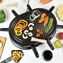 Quest 35909 Raclette Grill 8 Person Set with Pans