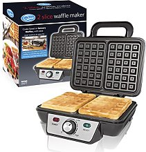 Quest 35950 Twin Two Slice Waffle Maker Iron,