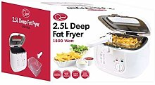 Quest Deep Fat Fryer With Removeable Lid 2.5L White