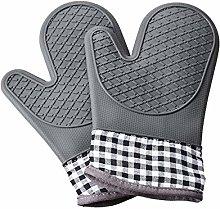 Queta Silicone Oven Gloves, One Pair of Non-Slip