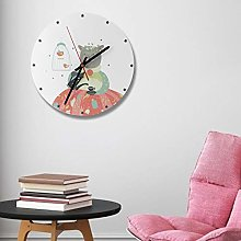 Quiet Fashion Round Clock Nordic Easy to Install