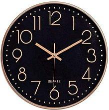Quiet No Ticking Modern Wall Clock Quartz Round