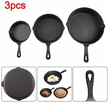 Quieting Cast Iron Non-Stick Frying Griddle Pan