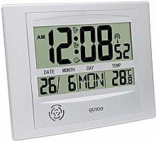 QUIGO Digital Wall Clock Radio Controlled Alarm