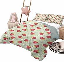 Quilt Bedding Set Fruits Custom Bedding Machine