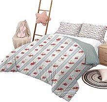 Quilt Bedding Set Shabby Chic 3 Piece Bedspreads