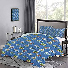 Quilt Cover Cute Toys Pattern Train Sail Boat