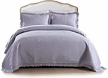 Quilted Bedspread 3 Piece Set Embossing Double Bed