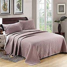 Quilted Bedspread Throw 3 Piece Summer Quilt