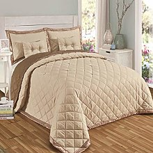 Quilted Luxurious 5 Pieces Diamond Bedspread