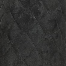 QUILTED SUEDE FABRIC BLACK Soft Furnishings