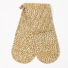 Quince & Cook - Animal Print Mustard Oven Gloves