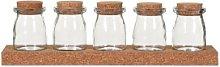 Quince & Cook - Cork Five Jar Spice Rack