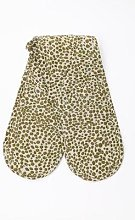 Quince & Cook - Olive Animal Print Oven Gloves