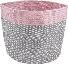 Quincy Storage Cotton Basket Isabelline Colour: