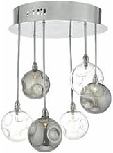Quinn ceiling light polished chrome and smoked