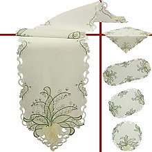 Quinnyshop White Lily of the valley Embroidery