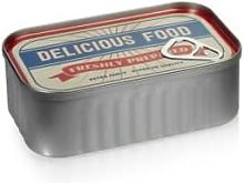 &Quirky - Delicious Food Red Tin Storage Pot