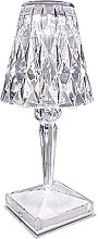 QULONG Crystal Diamond Cordless Desk Lamp, USB