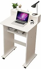 QULONG Modern Wooden Small Computer Table, Compact