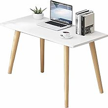 QULONG Nordic Solid Wood Desk, Home Student Simple