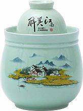 QULONG Porcelain Container Pickling, Kimchi Crock