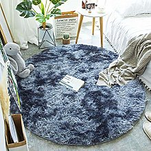 QULONG Round Fluffy Soft Area Rugs for Kids Girls