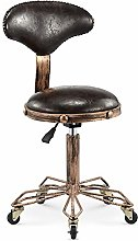 QULONG Swivel Stool on Wheels,Adjustable Height 51