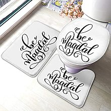 Quote Bathmat,Be Magical Black And White