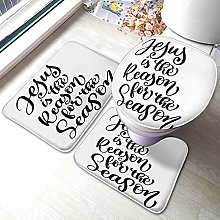 Quote Bathmat,Funny Quote Design 3 Piece Bathroom